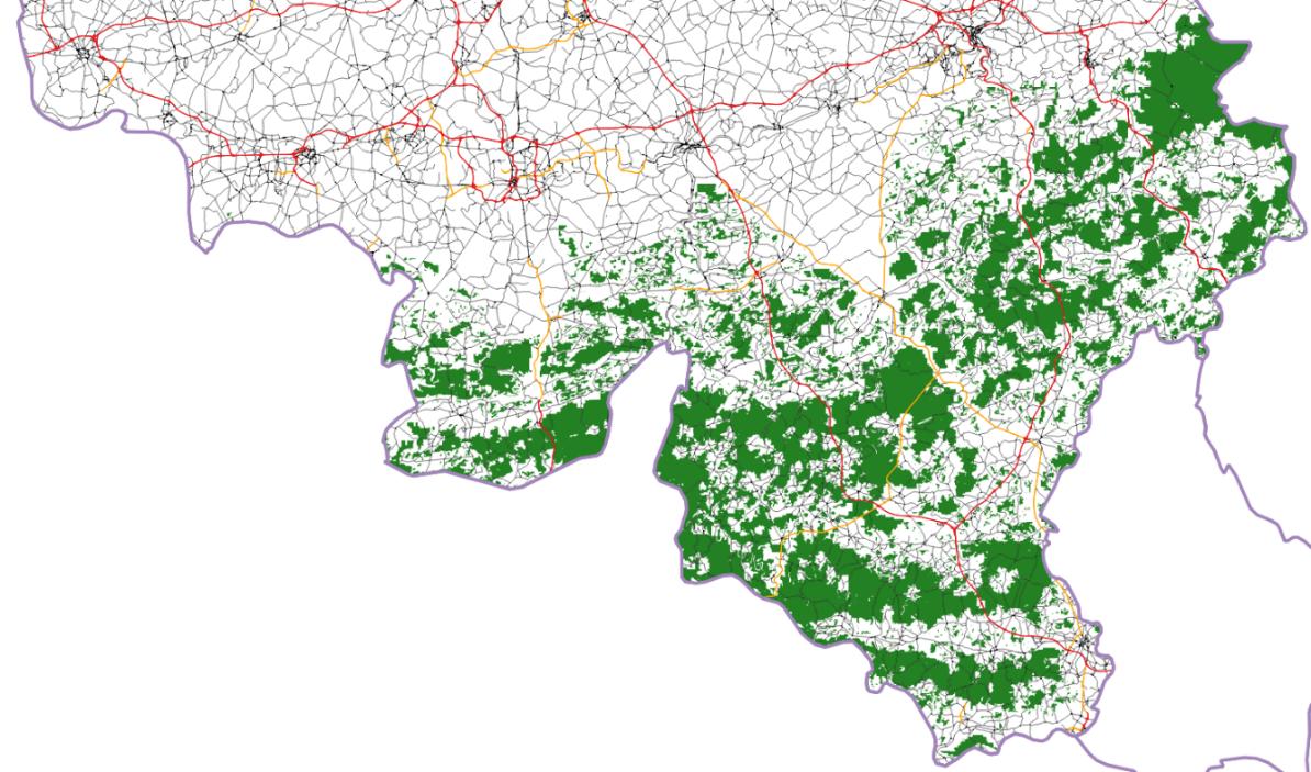 WWF lynx map BE